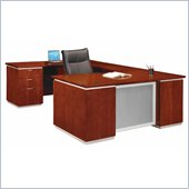 DMi Pimlico Veneer Executive Left U-Shaped Desk (Assembled)