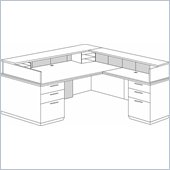 DMi Pimlico Veneer Right Reception Desk (Flat Pack)