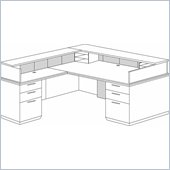 DMi Pimlico Veneer Left Reception Desk (Flat Pack)