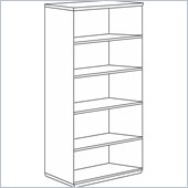 DMi Pimlico Veneer 72 in. High Open Bookcase (Assembled)