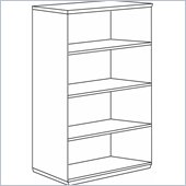 DMi Pimlico Veneer 54 in. High Open Bookcase (Assembled)