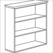 DMi Pimlico Veneer Standard 3 Shelf 42 in. Wood High Open Bookcase (Assembled)