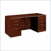 DMi Summit 72 in. Wood Kneehole Credenza in Cherry (Flat Pack)