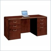 DMi Summit 66 in. Wood Kneehole Credenza in Cherry (Flat Pack)