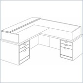DMi Summit Right L-Shaped Reception Desk (Flat Pack)