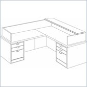 DMi Summit Left L-Shaped Reception Desk (Assembled)
