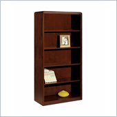 DMi Summit Standard 5 Shelf 72 in. Open Wood Bookcase in Cherry (Flat Pack)