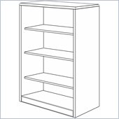 DMi Summit 54 in. Open Bookcase (Flat Pack)