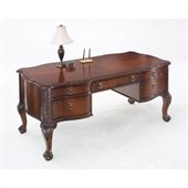 DMi Balmoor Wood Writing Desk in Bordeaux Cherry
