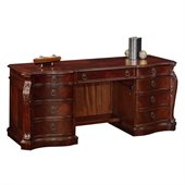 DMi Balmoor Wood Kneehole Credenza in Bordeaux Cherry