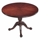DMi Balmoor 4' Round Conference Table with X-Shaped Base in Cherry