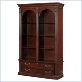 DMi Wellington Double Bookcase 6 Shelf Wood Lateral  File in Garnet Cherry