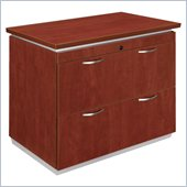 DMi Pimlico Laminate 2 Drawer Lateral Wood File in Cognac Cherry
