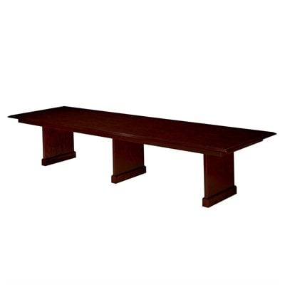 DMi Governors Rectangular 12' Conference Table with Slab Base in Mahogany