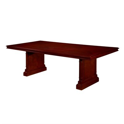 DMi Keswick Rectangular 8' Conference Table with Slab Base in Cherry