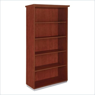 DMi Pimlico Laminate 72 in. Open Bookcase (Flat Pack) in Cognac Cherry