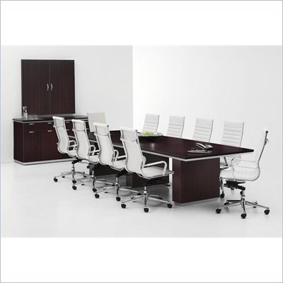 DMi Pimlico Laminate 12' Boat Shaped Conference Table with Column Base