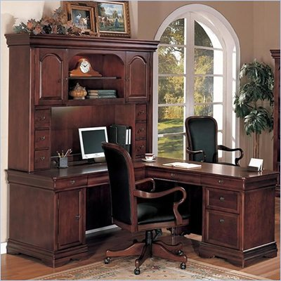 DMi Rue de Lyon Computer L-Shaped Desk with Hutch