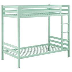 Walker Edison Twin over Twin Bunk Bed in Mint