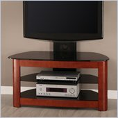 Walker Edison 42 Regal Corner TV Stand with Mount in Black