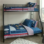 Walker Edison Sunset Metal Twin over Full Metal Bunk Bed in Black