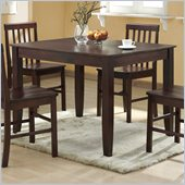 Walker Edison Solid Wood Casual Dining Table in Espresso Finish