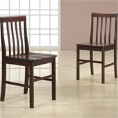 Walker Edison Solid Wood Dining Side Chairs in Espresso (Set of 2)