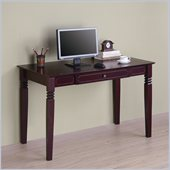 Walker Edison Elegant Solid Wood Writing Desk in Walnut Brown