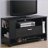 Walker Edison 44 Inch Wood Game TV Stand in Black