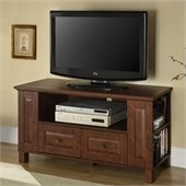 Walker Edison 44 Inch Multi-Purpose Wood TV Console in Brown