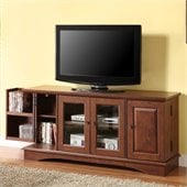 Walker Edison 52 Inch Media Storage Wood TV Console in Brown