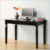 Walker Edison Elegant Solid Wood Desk in Black