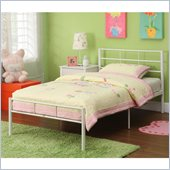 Walker Edison Twin Metal Bed in White