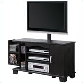 Walker Edison 42 in. Wood TV Console with Mount and Storage in Black