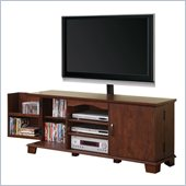Walker Edison 60 in. Wood TV Console with Mount in Traditional Brown