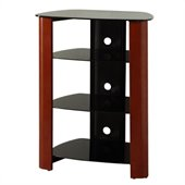 Walker Edison Regal Multi-Level Component Stand in Wood Cherry