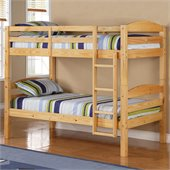 Walker Edison Twin/Twin Solid Wood Bunk Bed in Natural