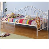 Walker Edison Metal Twin Daybed in White