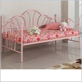 Walker Edison Metal Twin Daybed in Pink