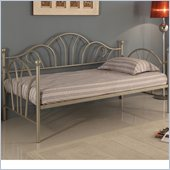 Walker Edison Metal Twin Daybed in Pewter Metallic