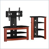 Walker Edison Regal 42 in. TV Stand and Component Stand in Cherry