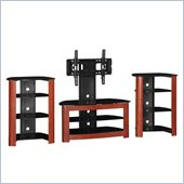 Walker Edison Regal 42 in. TV Stand and 2 Component Stands in Cherry