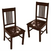 Walker Edison Meridian Dining Chair in Cappuccino (Set of 2)