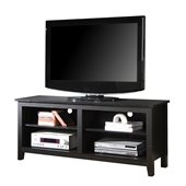 Walker Edison 58 in. Wood TV Console in Black