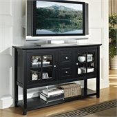 Walker Edison 52 in. Wood Console Table TV Stand in Black