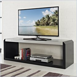 Walker Edison 60 Glass and Wood TV Stand in Black