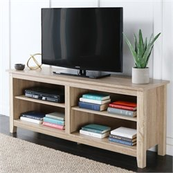 Walker Edison 58 Natural Wood TV Stand
