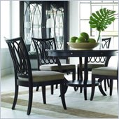 Stanley Furniture Hudson Street Round Casual Dining Table in Dark Espresso Finish