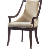 Stanley Furniture Hudson Street Upholstered Arm Chair in Dark Espresso Finish