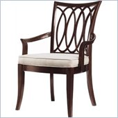 Stanley Furniture Hudson Street  Fabric Arm Chair in Dark Espresso Finish